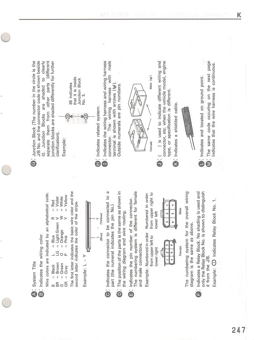 index of   manual  1995 electrical manual  k