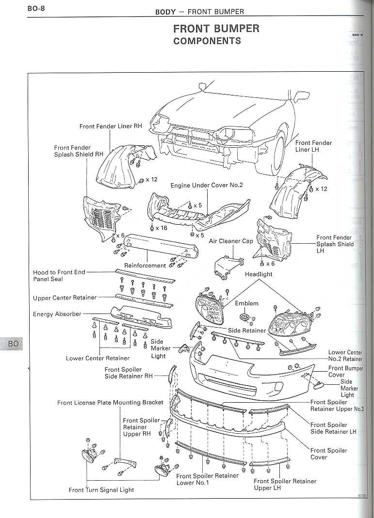 front bumper schematics for fmic